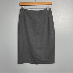 J. CREW | super 120 gray wool pencil suit skirt